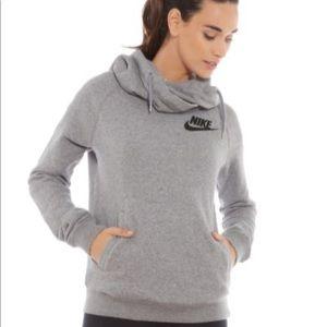 Nike cowl neck gray hoodie